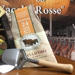 Affetta formaggio Parmigiano Reggiano vacche rosse Grana d'Oro