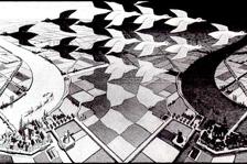 MC Escher - Jour et nuit