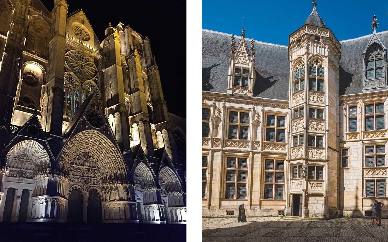 vue cathédrale de bourgers et palais jacques coeur
