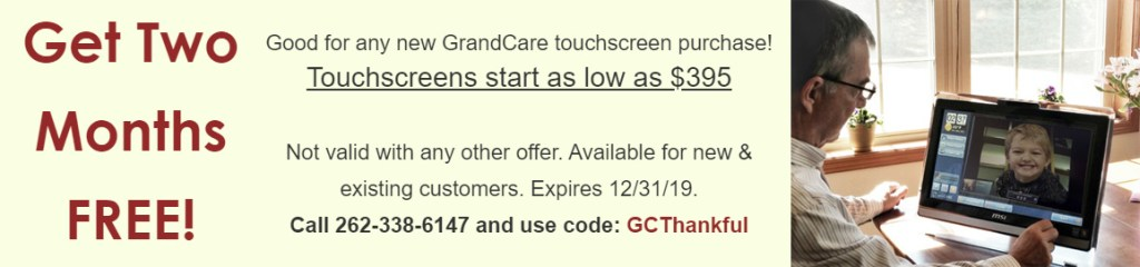 GrandCare - Special Thanksgiving Offer