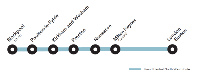 Blackpool route map