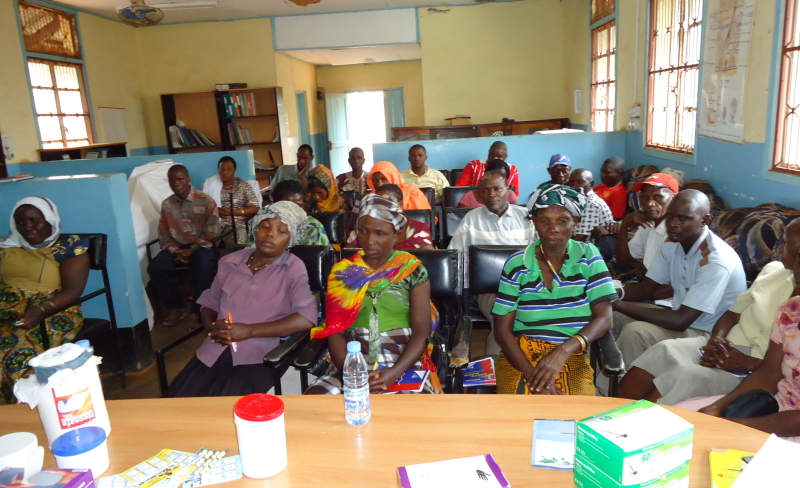 CHWs in a classroom session