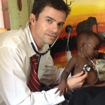 Michael Hawkes (Stollery Children's Hospital) at work in Africa