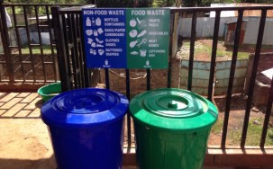 Waste separation containers.