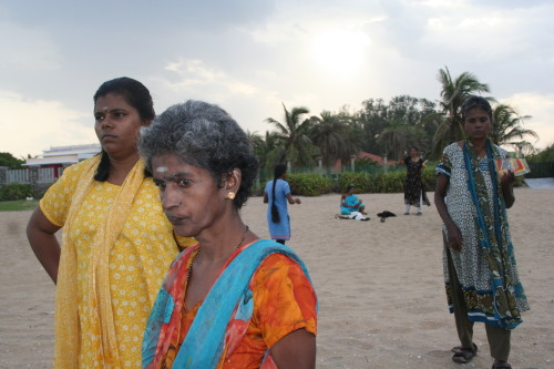 Banyan shared housing residents with health workers.