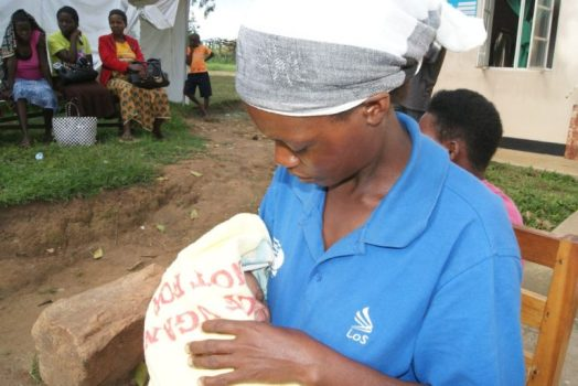 A mother with her baby at the Kihihi Health Centre IV where she had just given birth. Photo courtesy of Amref Health Africa in Uganda