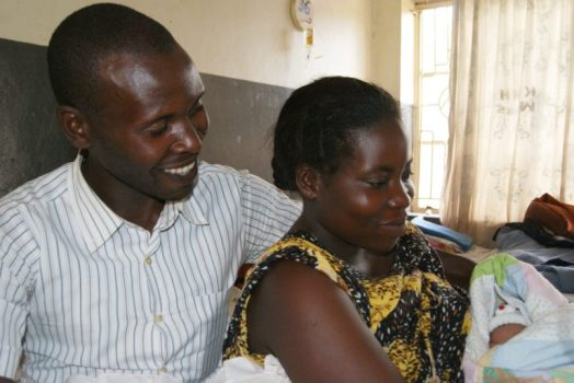 Parents with their newborn at Kabale Regional Referral Hospital. Photo courtesy of Amref Health Africa in Uganda