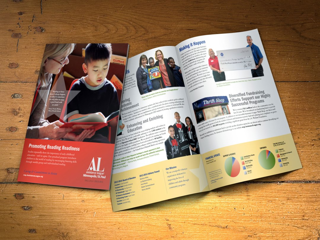 Assistance League Minneapolis/St. Paul 2014 annual report design 2014