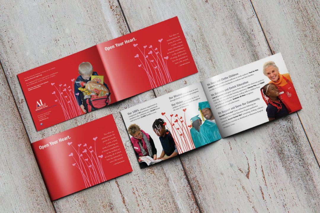 """""""Open Your Heart"""" 2013 appeal brochure design"""