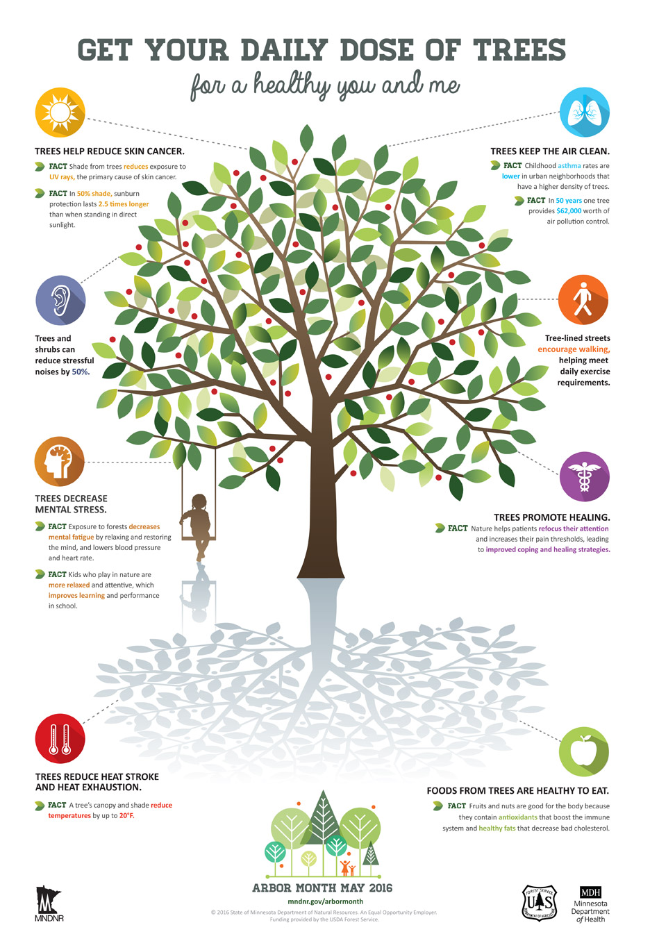 MN DNR Health Benefits of Trees Infographic
