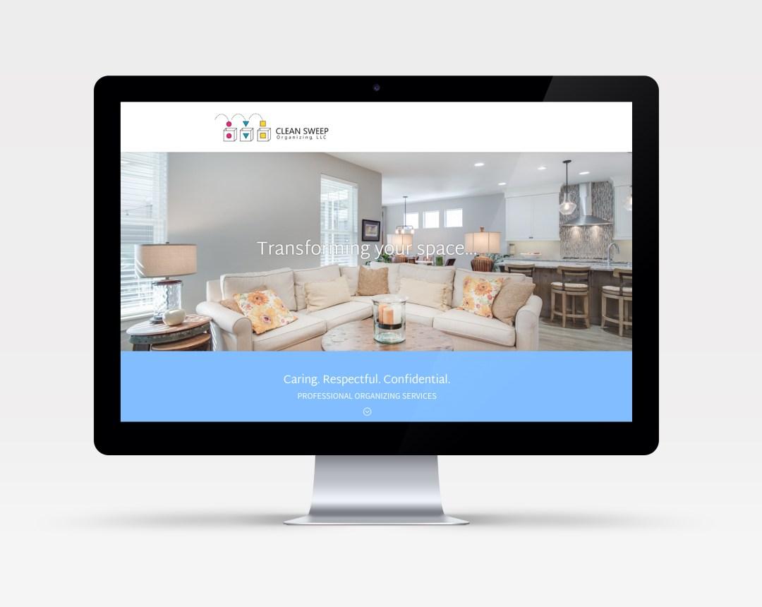 Clean Sweep Organizing website design