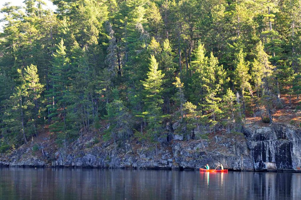 canoeing in the BWCA near Ely, Minnesota
