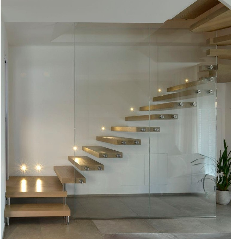 How Do Floating Staircases Work Modern Cantilever Stairs | Stairs With Glass Sides