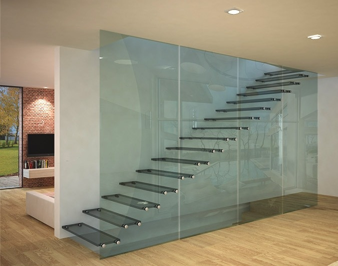 Glass Stairs Glass Steps Structural Glass Railings | Glass For Stairs Price | Glass Handrail | Solid Oak | Outdoor | Metal | Glass Panel