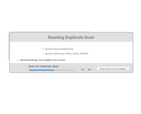 Running Duplicate Scan