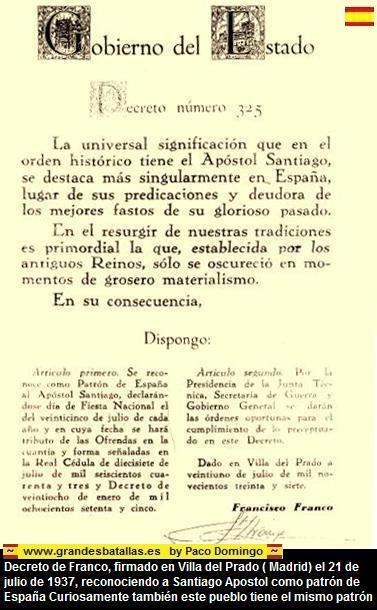 decreto santiago patron de españa