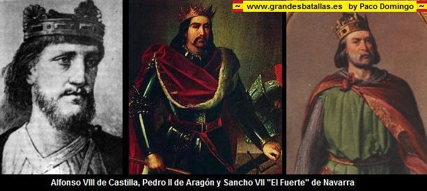 alfonso VII de castilla, pedro II de aragon y sancho VII de navarra