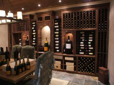 Walnut Dining Room Cellar