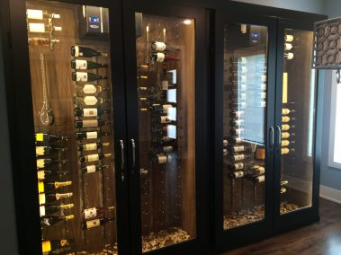 Custom Art Wine Cabinet