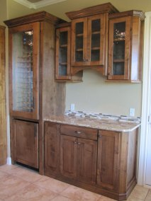 Wine Cabinet with Refrigerator and Storage