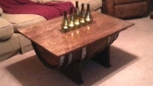 Wne Barrel Coffee Table