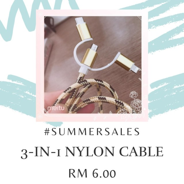 3in1-usb-cable-lightning-microUSB-TypeC-fast-charging-nylon-braided-android-apple-samsung-huawei-mobile-july-summer-sale-grandeur-gifts-malaysia-online-shopping-unique-gift-ideas