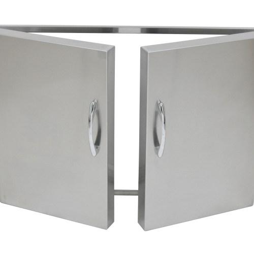 Stainless Steel Double Doors