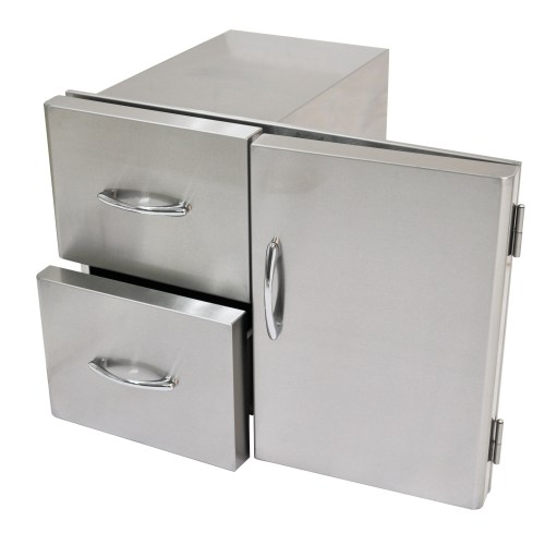 Stainless Steel Door and Drawers
