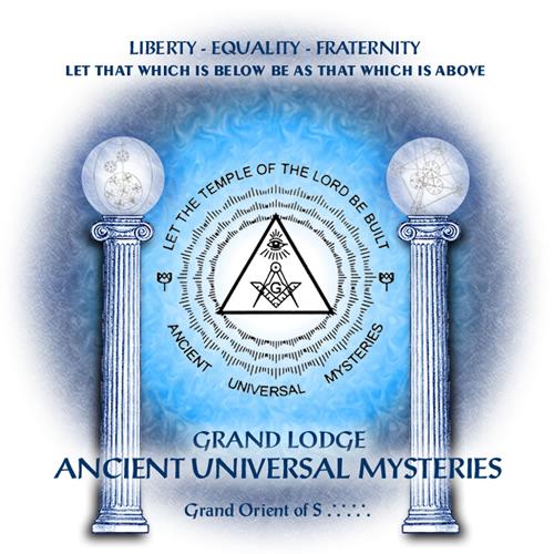 Grand Lodge Ancient Universal Mysteries Retina Logo