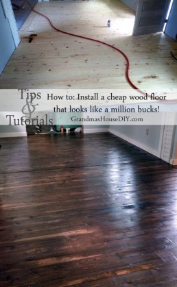 Inexpensive wood floor that looks like a million dollars  Do it     How to install an inexpensive wood floor that looks like an expensive  hardwood floor for cheap