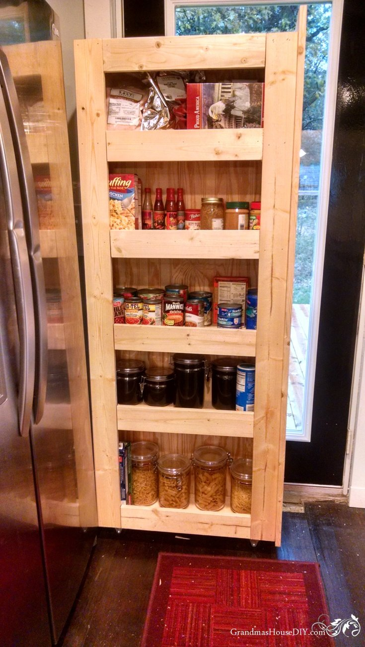 how to build your own rolling pantry
