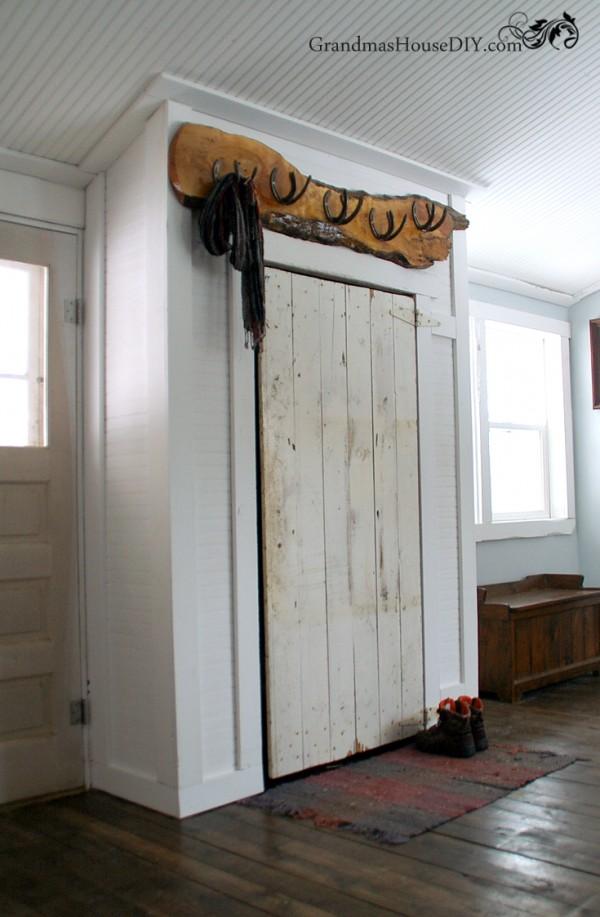 Grandma's House DIY - Barn Door closet