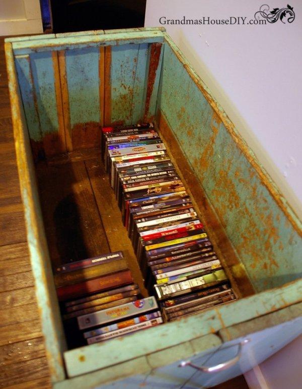 my grandma 39 s old carrot bin becomes our living room storage box grandmas house diy. Black Bedroom Furniture Sets. Home Design Ideas