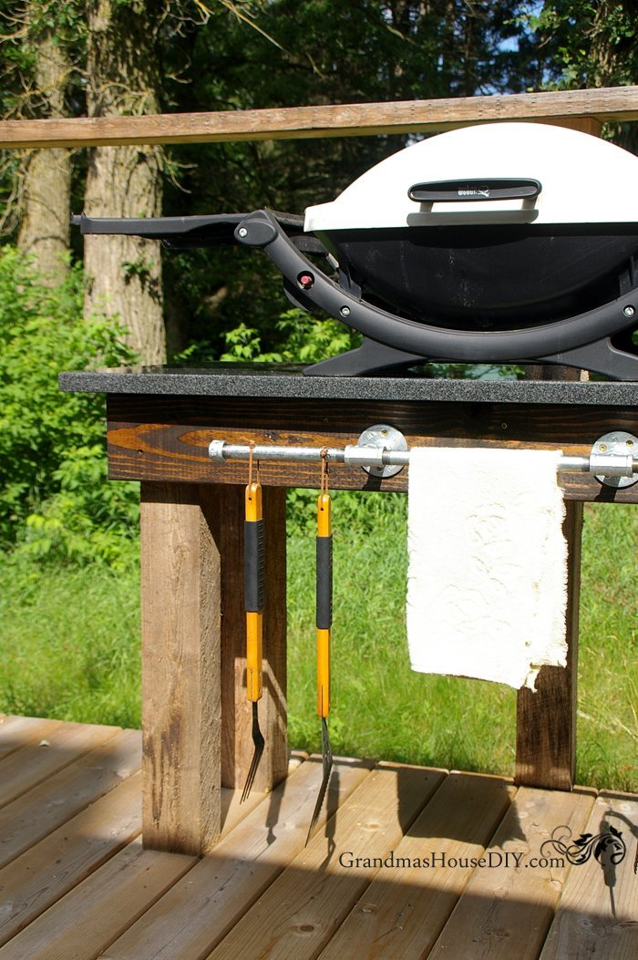 How to build an outdoor grill station DIY wood working ... on Patio Grill Station id=45926