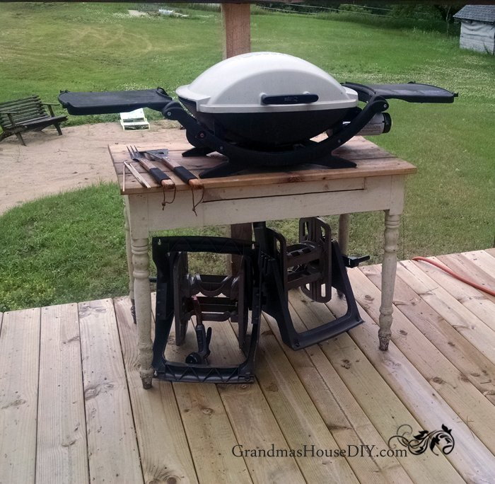 How to build an outdoor grill station DIY wood working ... on Patio Grill Station  id=85378