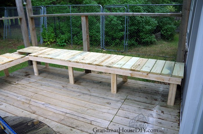 outdoor bench for our deck diy wood