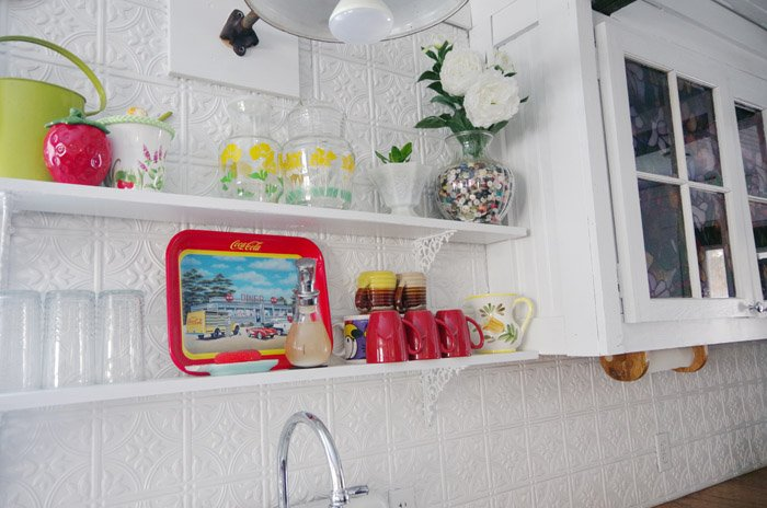 open shelves decorating organizing and