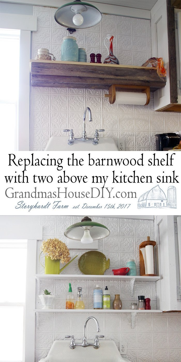 open shelves above my kitchen sink