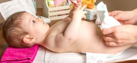 Diapering a Baby