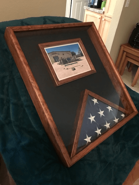 American Flag Display Case