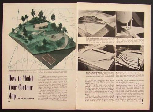 How-To make CONTOUR MAPS Surveying INFO Simple Mapping | eBay