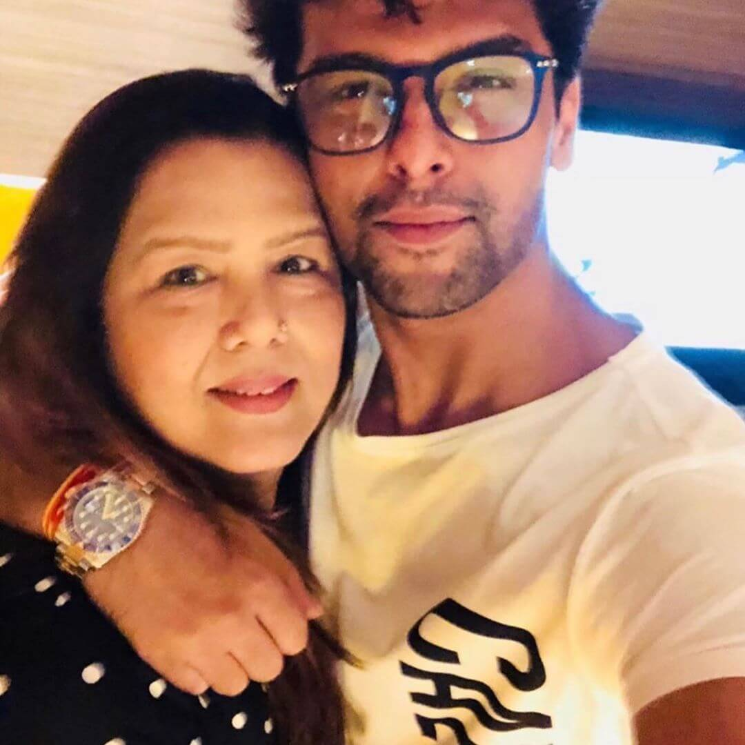 Kushal Tandon with his mother