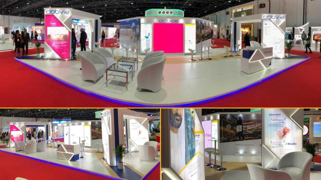 Fabric Exhibition Stand Builders : Abbvie portable modular exhibition stand developed grand radium