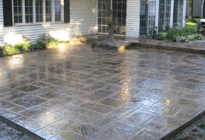 stained concrete patio concrete