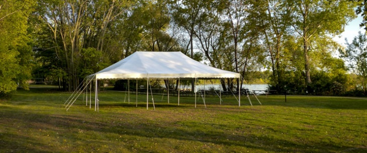 20 x 30 Canopy Tent & 20x30 Backyard Tent Package - Grand Rental Station