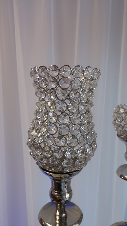 Large Crystal Beaded Tulip Votive Holder