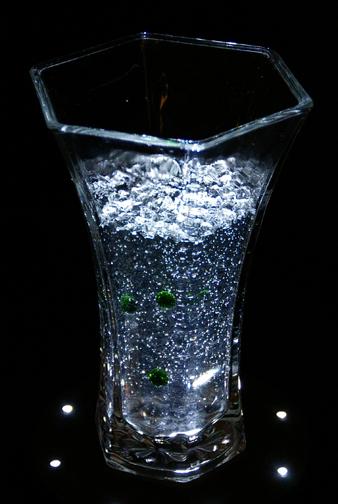"10"" Tall Glass Vase"