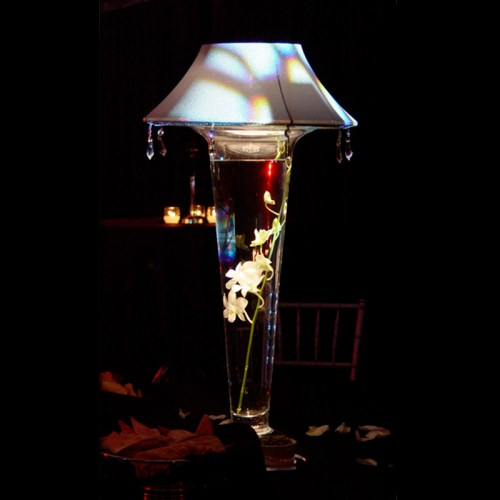 Lighted Lamp Shade w/ 24in tall vase