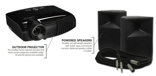 Outdoor Theater Projector_Speakers