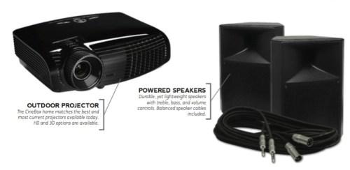 Outdoor Theater Projector_Speakers